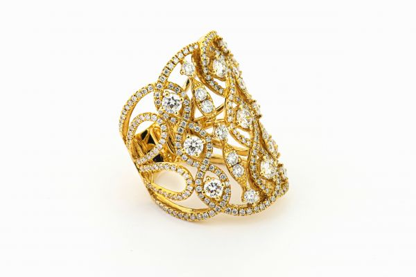 18kt Yellow Gold Fancy Diamond Ring