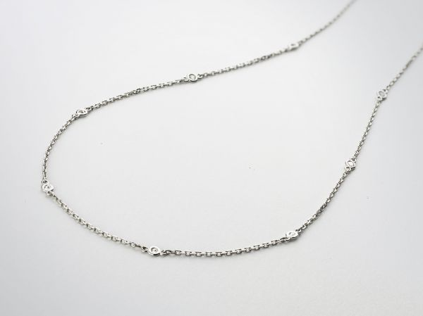 14KT WHITE GOLD DIAMONDS BY THE YARD NECKLACE