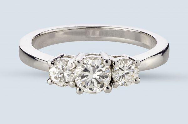 1.00 Carat Total Weight 3-Stone Ring