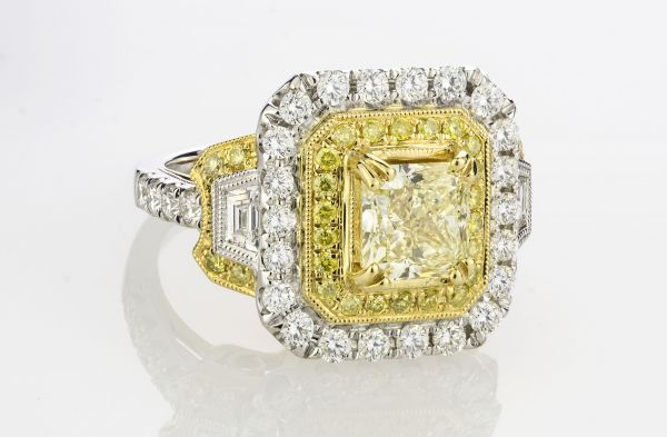 Regal Yellow Radiant Diamond Ring
