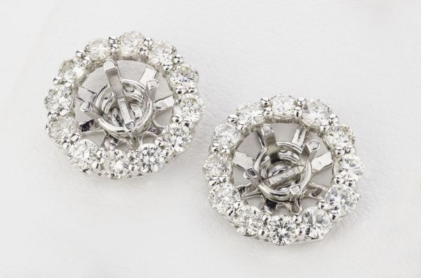 14kt White Gold Earring Jackets