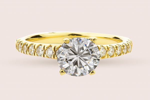 18kt Yellow Gold Prong Set Engagement Ring