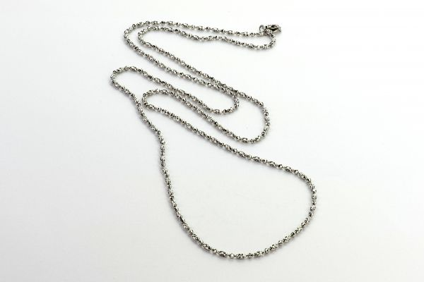 14kt White Gold Diamond Cut Necklace